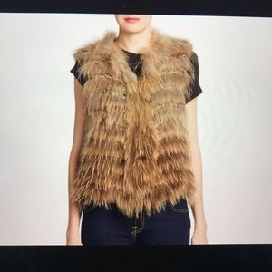 Alice and Olivia Knitted Fur Vest